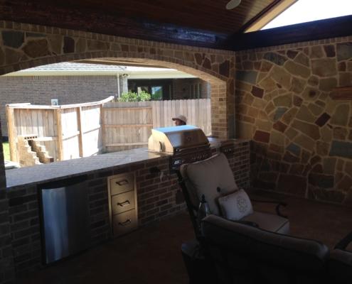 outdoor brick kitchen