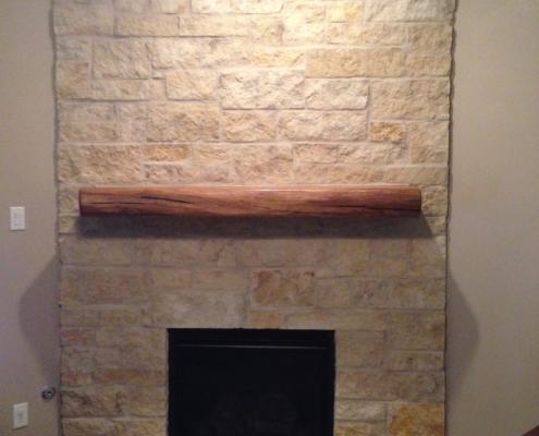 brick fireplace indoor