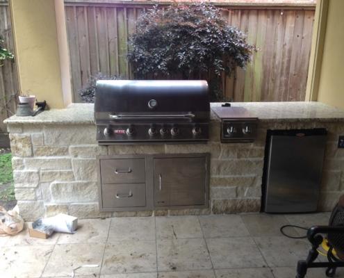 brick outdoor grill