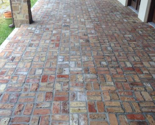 brick walkway restoration