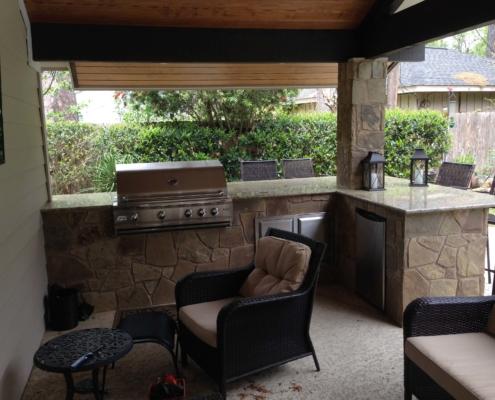 outdoor kitchen brickwork