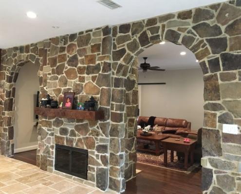 indoor brick accent wall