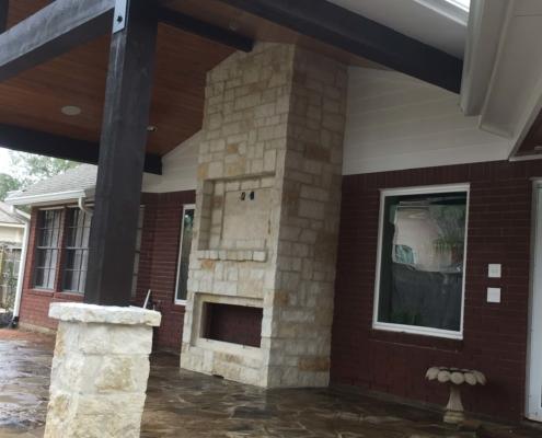 outdoor stone patio