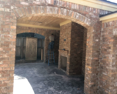brick patio arch