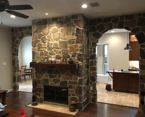 custom interior stone