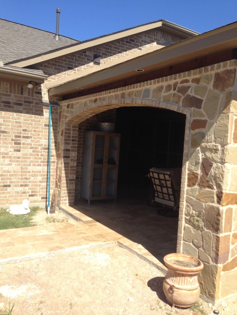 outdoor kitchen patio wall
