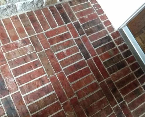 finished brick repair