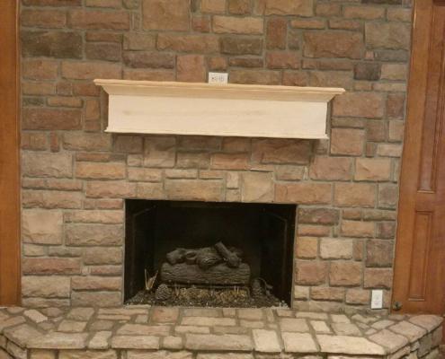 indoor fireplace custom