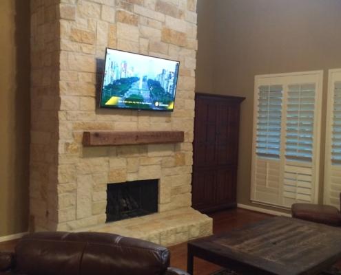 large updated brick chimney