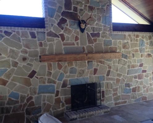 mosaic brick outdoor kitchen