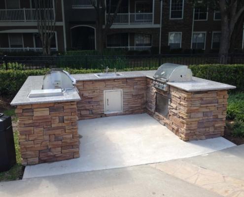 outdoor brick kitchen bbq