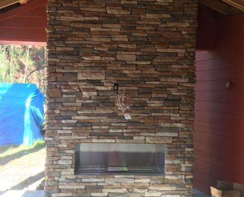 outdoor custom stone masonry