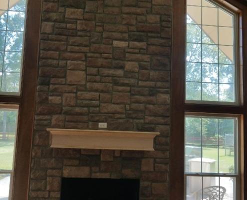 renovated chimney brickwork