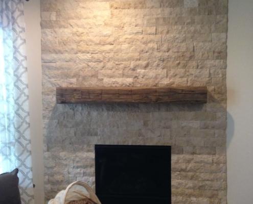 restored brick fireplace