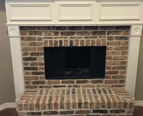 small fireplace brick restoration